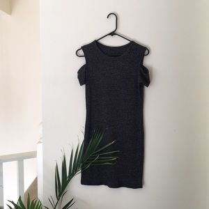 Mini gray dress